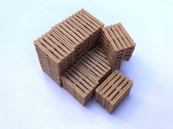 AX065-OO 3D Printed Real Wood Pallet Stacks (Pack of 12) OO/4mm/1:76